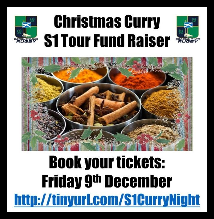 Christmas Curry Night in support of the S1 Tour: BOOK NOW