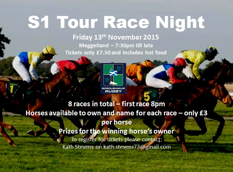 Boroughmuir Race Night