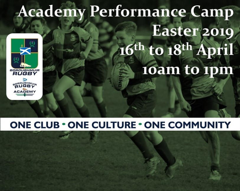 Academy Performance Camp - Easter 2019 (S2 to U18)