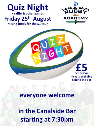S1 Squad tour fundraiser, Friday 25th August