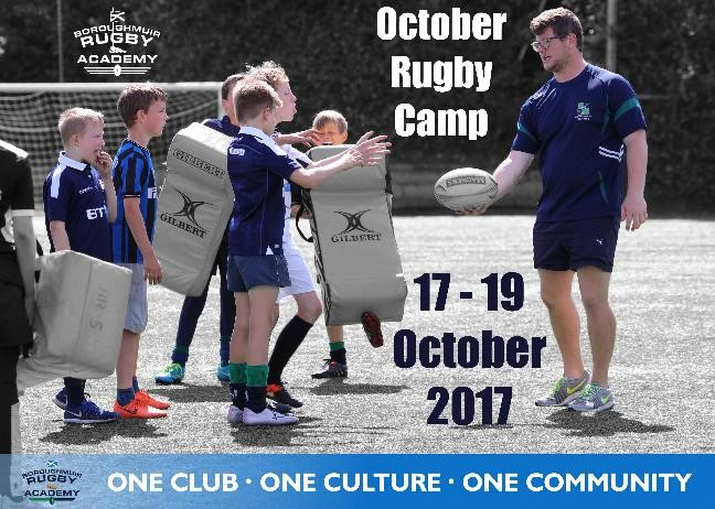 OCTOBER RUGBY CAMP 2017 - Places Still Available