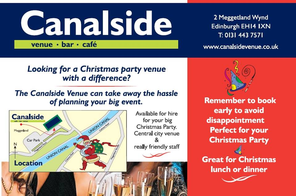 Book Your Christmas Party At Canalside