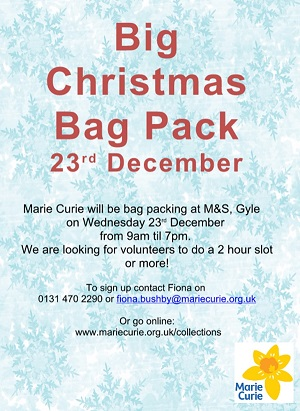 Marie Curie Bag Packing Support 2015