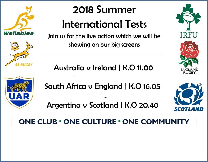 Summer Rugby on the big screens