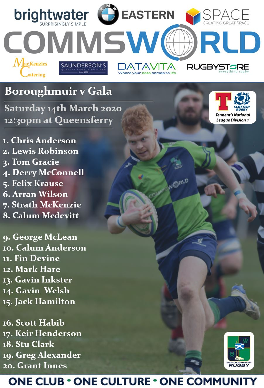 Boroughmuir Team to play melrose