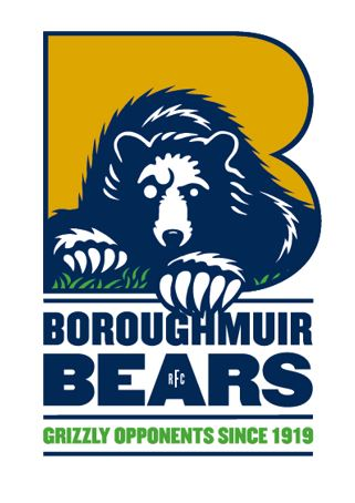 Boroughmuir Bear white background